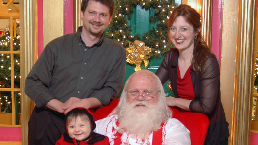 The fam with Santa